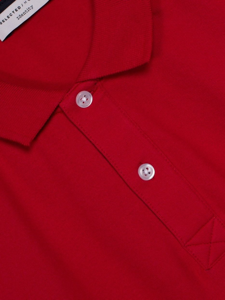 SLHARO SS EMBROIDERY POLO  W NOOS