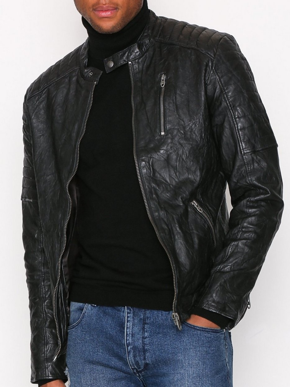 c60036a8bacfd Jprrichard Lamb Leather Jacket Noos - Premium By Jack   Jones ...