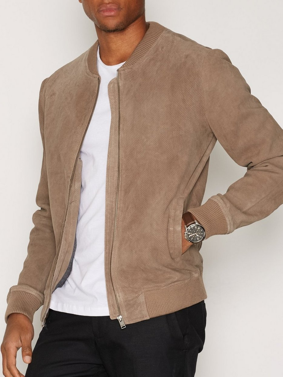Shncardiff Suede Jacket - Selected Homme - Light Brown - Jackets ...