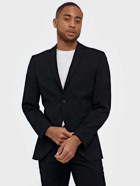 Selected Homme Slhslim Mylologan Black Blazer B No Blazere jakkesæt Sort - herre
