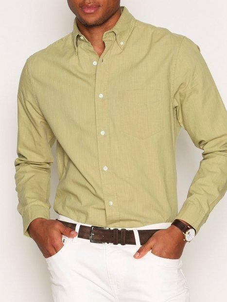 Gant Rugger R. Gmt Oxford Lfbd Skjorter Aloe mand køb billigt