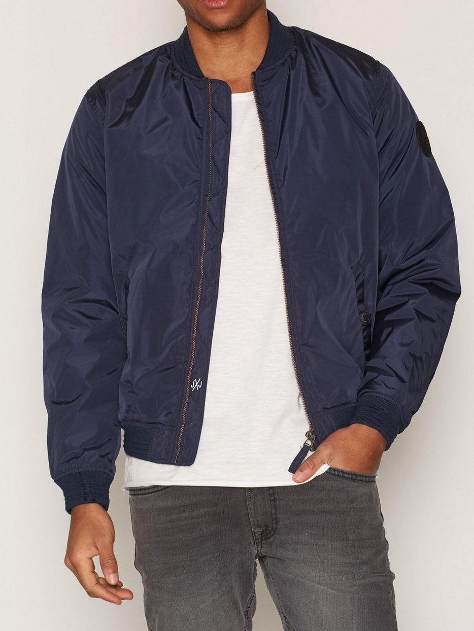 Jorlucky Bomber Jacket Pre Spring - Jack & Jones - Dark Blue ...