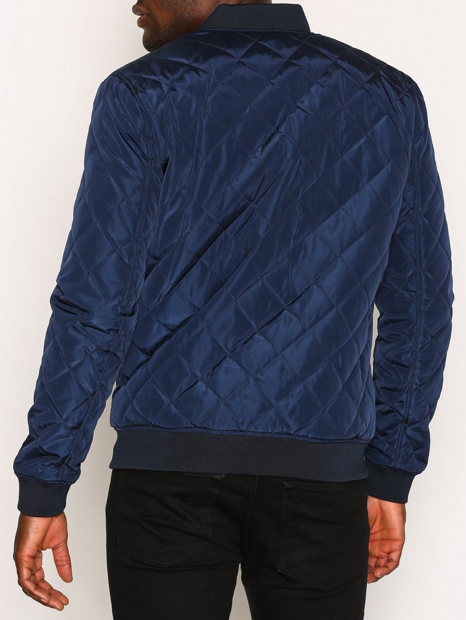 Shxpeter Quilted Bomber Jacket Selected Homme Dark