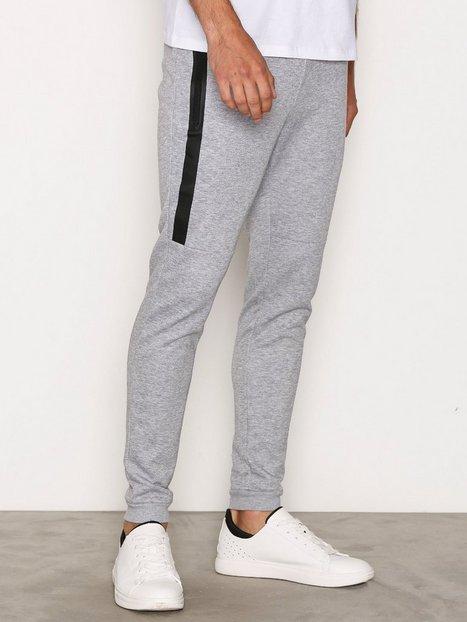 Only Sons onsVINN Zip Sweat Pants Noos Bukser Light Grey Melange mand køb billigt