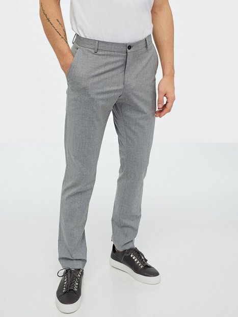 Selected Homme Slhslim Mylologan Light Grey Trs B Bukser Lysegrå - herre