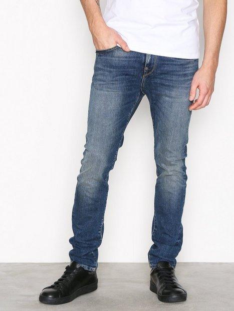 Selected Homme Shnslim Leon 1428 Mid.Blue St Jeans Jeans Blå - herre