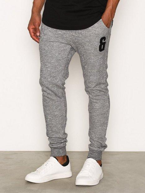 Only Sons onsDRAKE Appli Slim Sweat Pants Bukser Light Grey Melange mand køb billigt