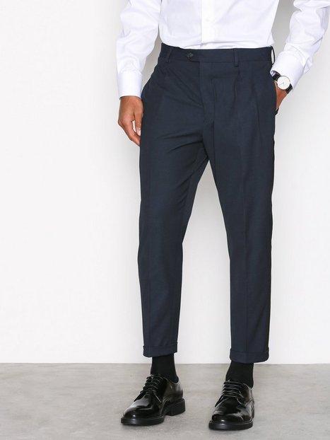 Selected Homme Shxmatch Navy W. Black Stripe Pants Bukser Mørkeblå mand køb billigt