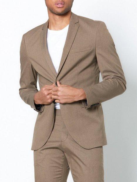 Selected Homme Shdnewone MYLOLOGAN1 Sand Blazer No Blazere jakkesæt Lysebrun - herre