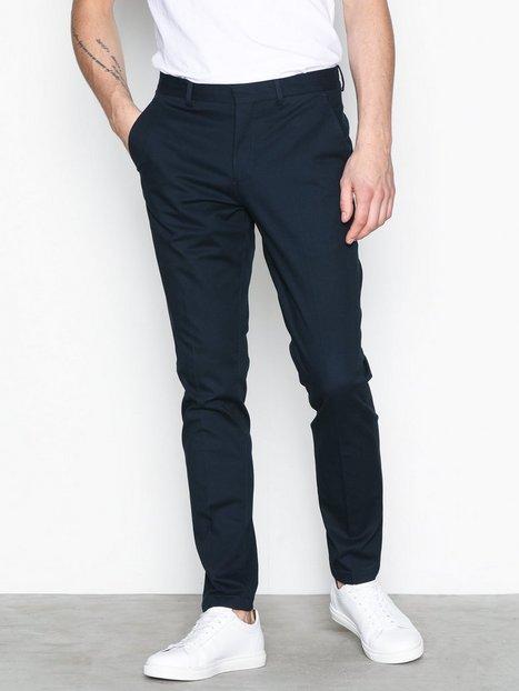 Selected Homme Slhslim Mathcot Navy Trouser Noos Bukser Mørkeblå mand køb billigt