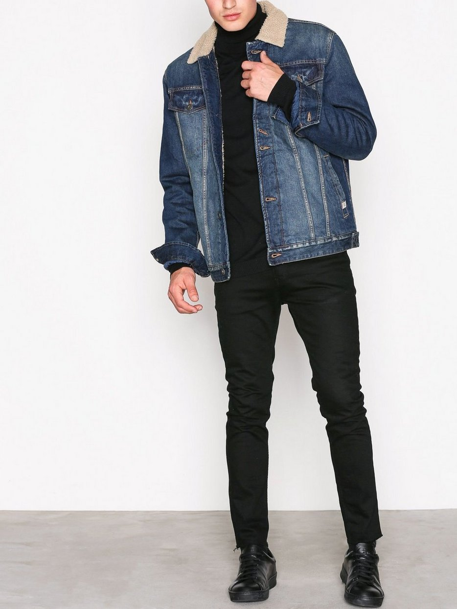 jjvjack denim jacket jack jones blue jackets. Black Bedroom Furniture Sets. Home Design Ideas