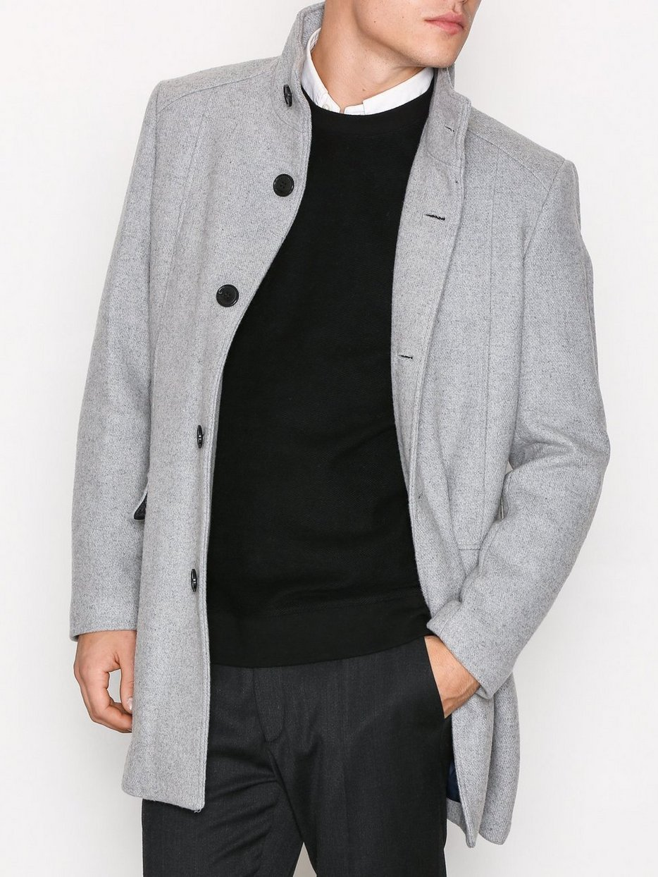 Shdmosto Wool Coat - Selected Homme - Light Gray - Jackets ...
