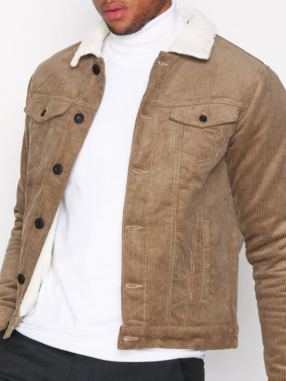 Onsfrederic Corduroy Jacket - Only & Sons - Light Brown - Jackets ...