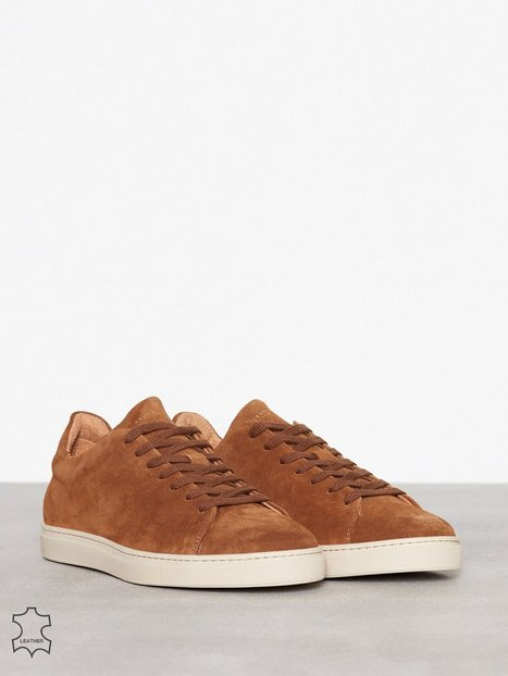 Selected Homme Shndavid Suede Sneaker New Sneakers tekstilsko Lys Brun mand køb billigt