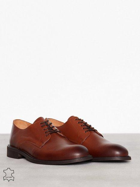 Selected Homme Slhbaxter Derby Leather Shoe B Noos Elegante sko Lysebrun - herre