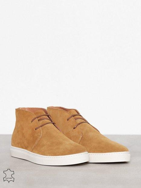 Selected Homme Shndempsey Chukka Sneaker Sts Sneakers tekstilsko Lys Brun mand køb billigt