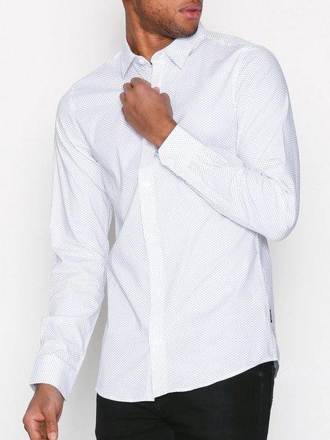 Only Sons onsALFREDO Ls Aop Shirt Noos Skjorter Hvid mand køb billigt