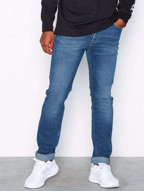 Lee Jeans Rider Blue Drop Jeans Denim mand køb billigt