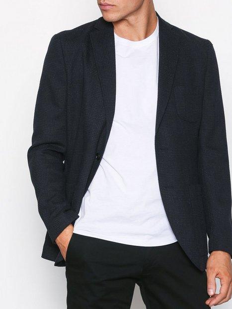 Selected Homme Shdone Milano Blue Black Check Blaz Blazere jakkesæt Sort mand køb billigt