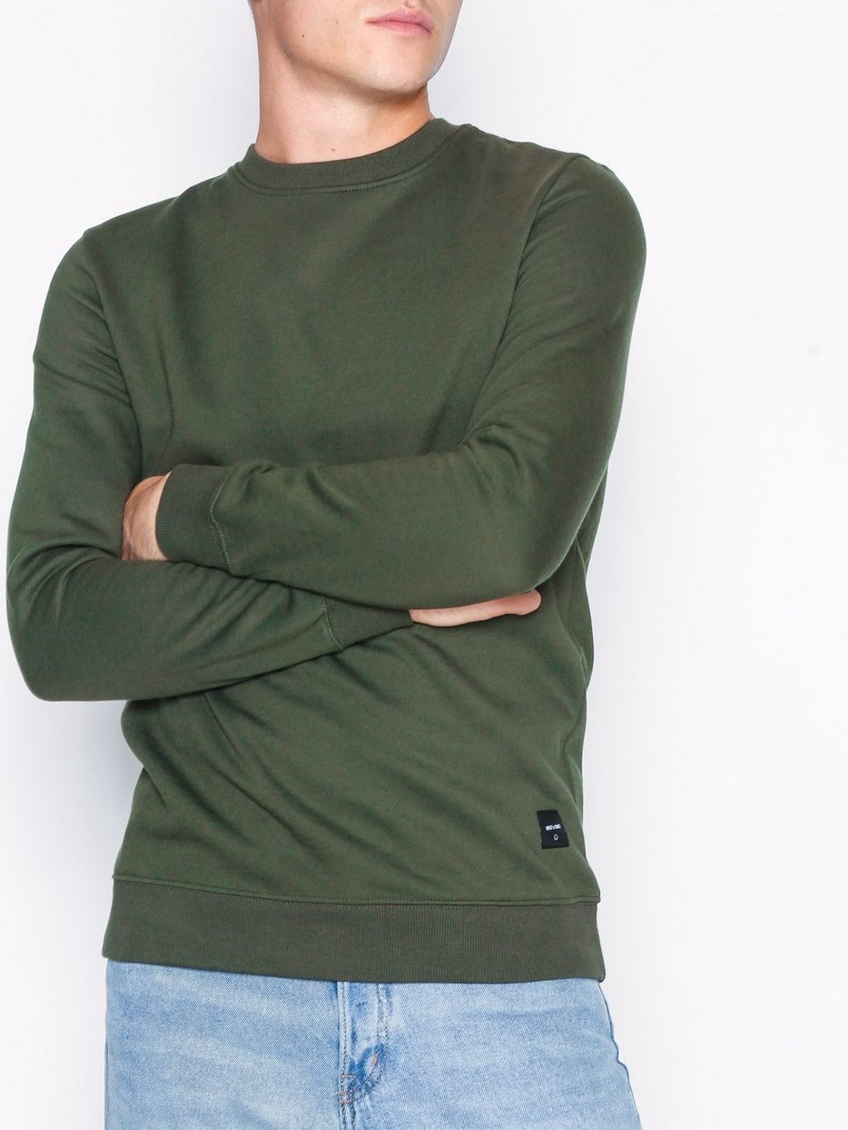 onsBASIC SWEAT CREW NECK BRUSHED NO