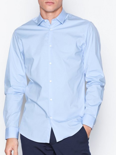 Selected Homme Slhslimpreston Clean Shirt Ls B Noo T shirts undertrøjer Lyseblå - herre