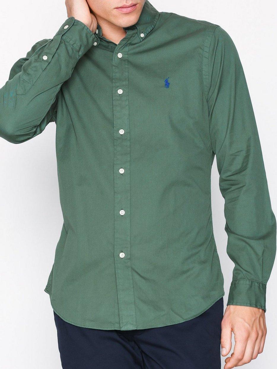 5ed76b5781ad Long Sleeve Twill Shirt - Polo Ralph Lauren - Green - Shirts (Men ...