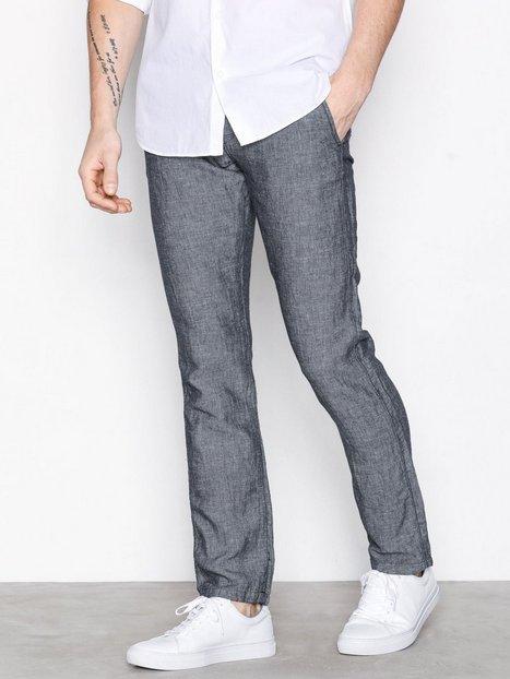 Selected Homme Shhthreeparis Blue Linen Pants Bukser Mørkeblå mand køb billigt