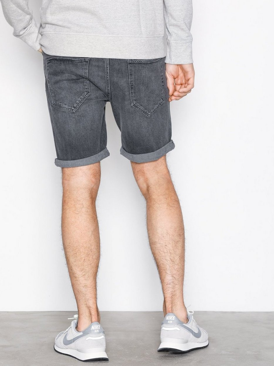 SLHALEX 309 LT. GREY ST DENIM SHORT