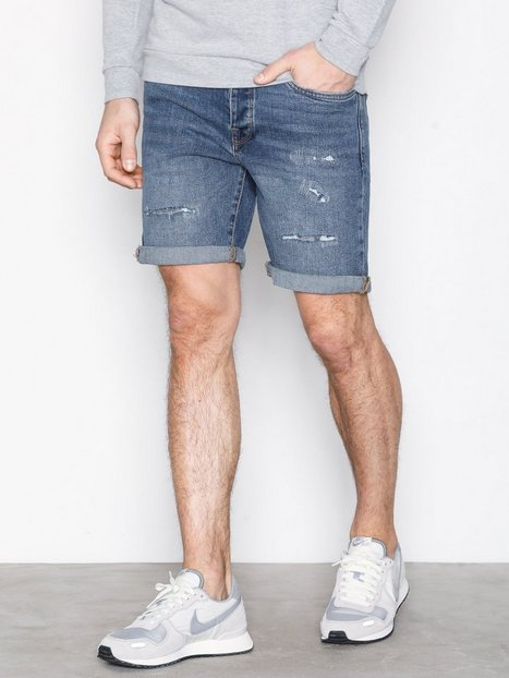 Selected Homme Shnalex 311 Mid. Blue St Denim Shor Shorts Blå - herre