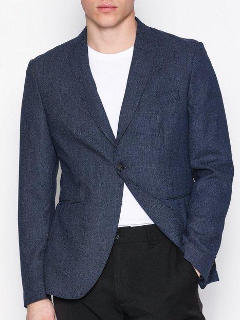 Selected Homme Shdonevenice Structure Blazer Blazere jakkesæt Mørkeblå - herre