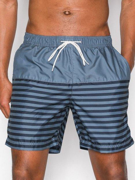 Selected Homme Shhheritage 18 Swimshorts Badetøj Blue Stripe - herre