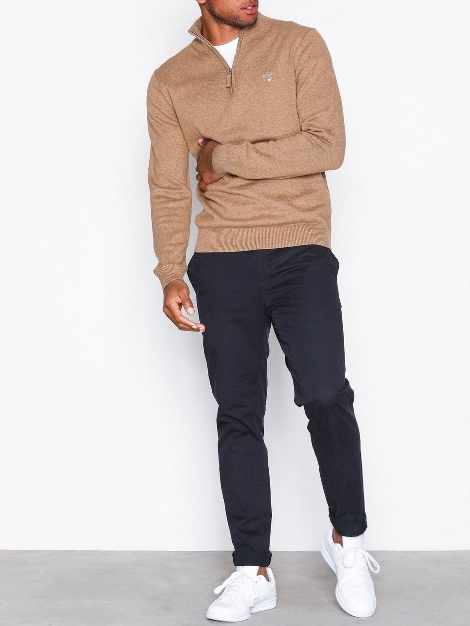 CONTRAST COTTON ZIP