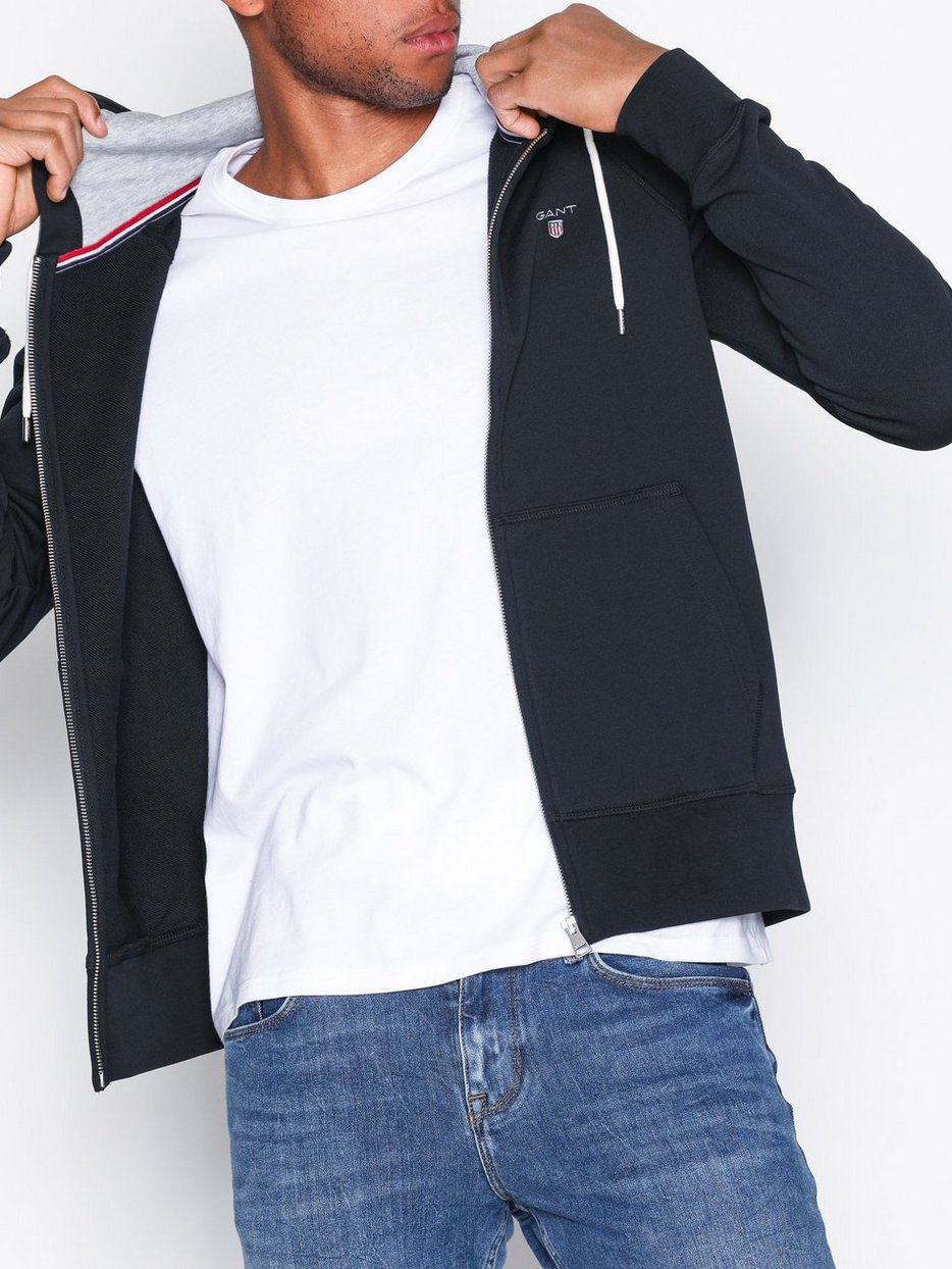 2dc664f97e043 Gant Original Full Zip Sweat Hoodie - Gant - Black - Jumpers ...