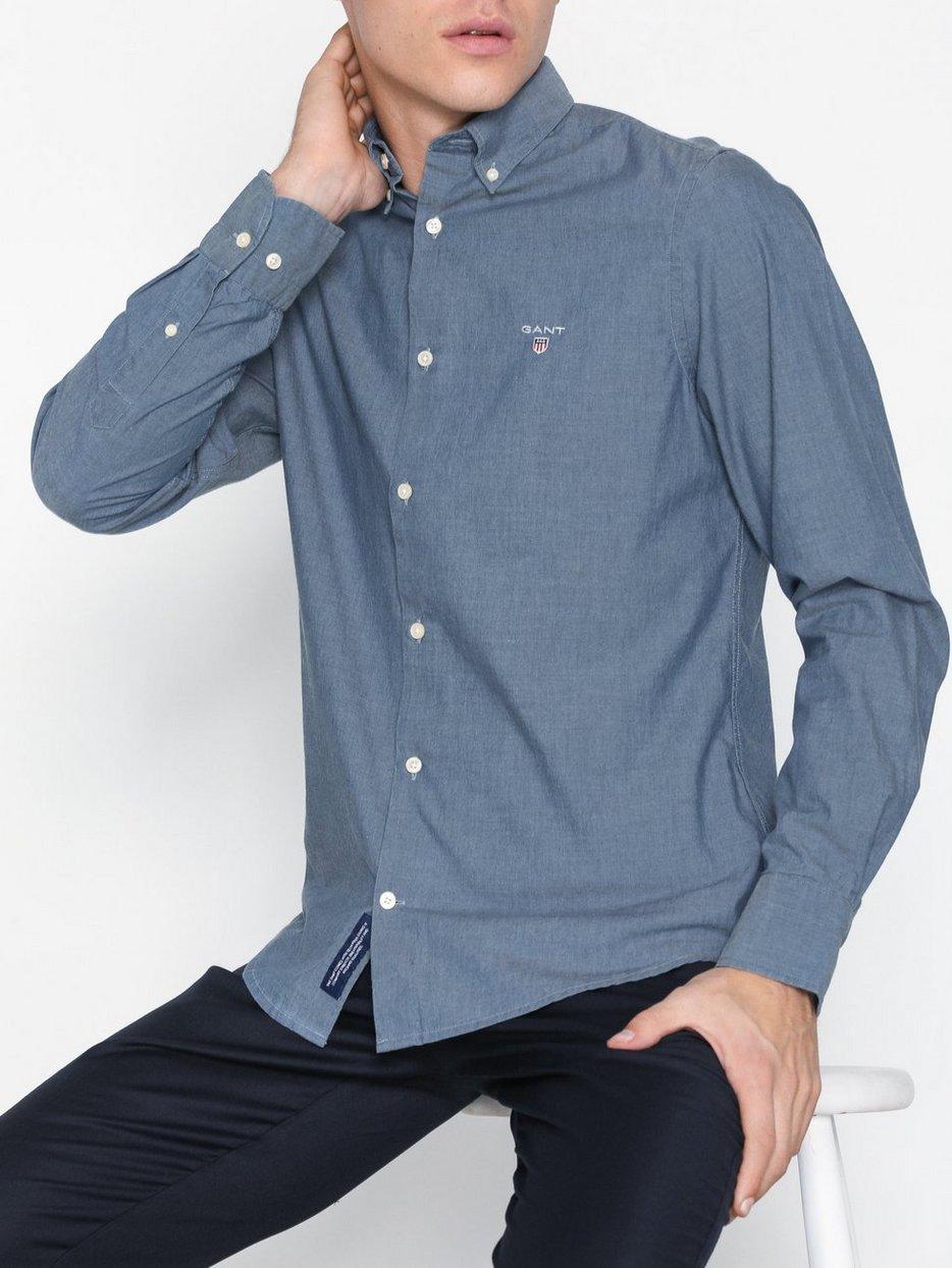 cd65e4f4edd Tp Indigo Solid Slim Bd - Gant - Indigo - Shirts (Men) - Clothing ...