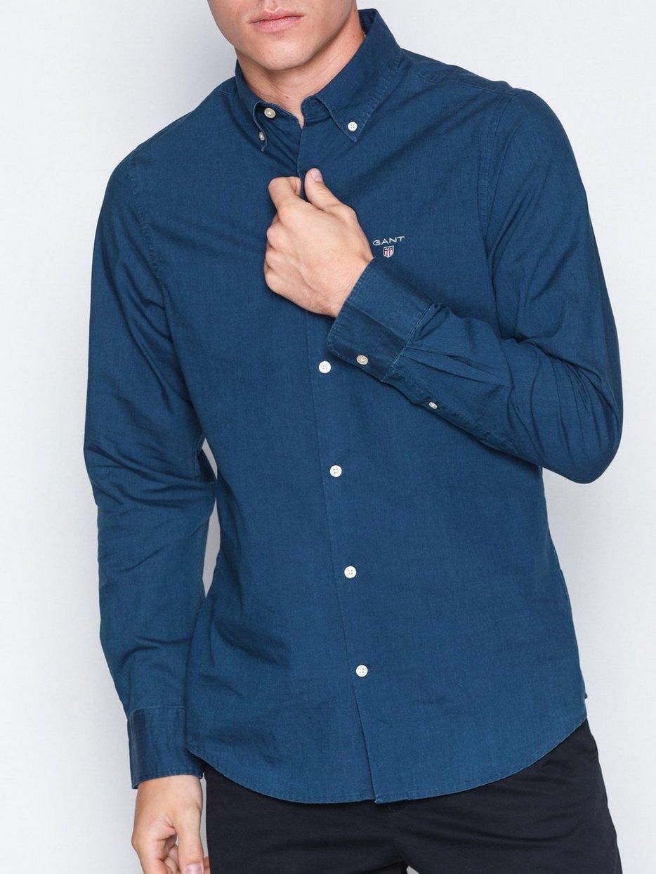624c0ac4b31 Tp Indigo Solid Slim Bd - Gant - Dark Blue - Shirts (Men) - Clothing ...