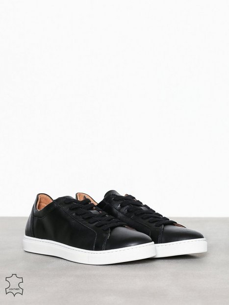 Selected Homme Slhdavid Leather Trainer W Sneakers Sort mand køb
