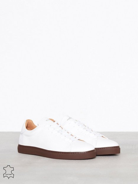 Selected Homme Slhdavid Leather Trainer W Sneakers tekstilsko Mørke Lilla - herre