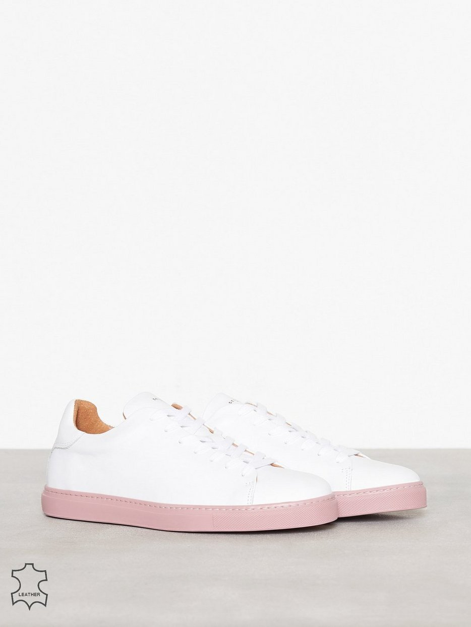SLHDAVID LEATHER TRAINER W