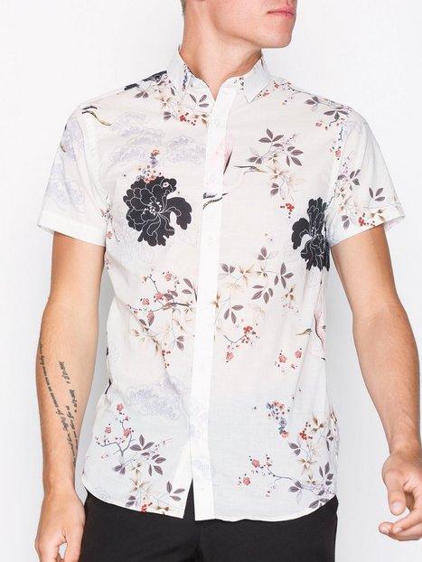 Selected Homme Shxonestenmalm Shirt Ss Skjorter Offwhite mand køb billigt