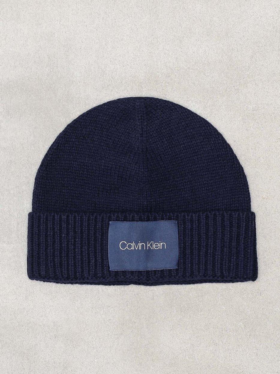 Cuff Beanie - Calvin Klein Jeans - Navy - Beanies - Accessories ... fcac92bbb62