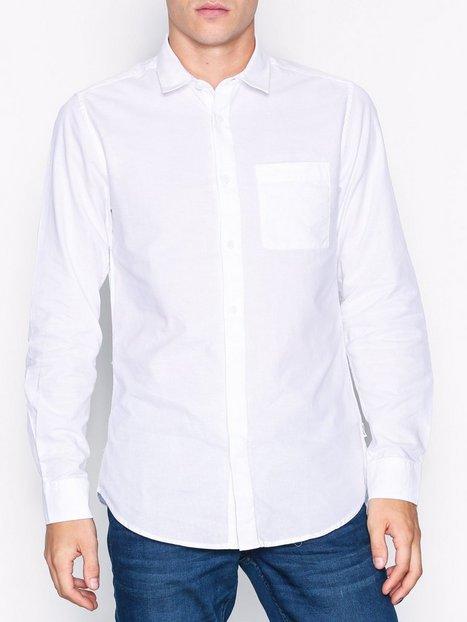 Only Sons onsJAMES Oxford Curved Shirt Exp Skjorter Hvid - herre