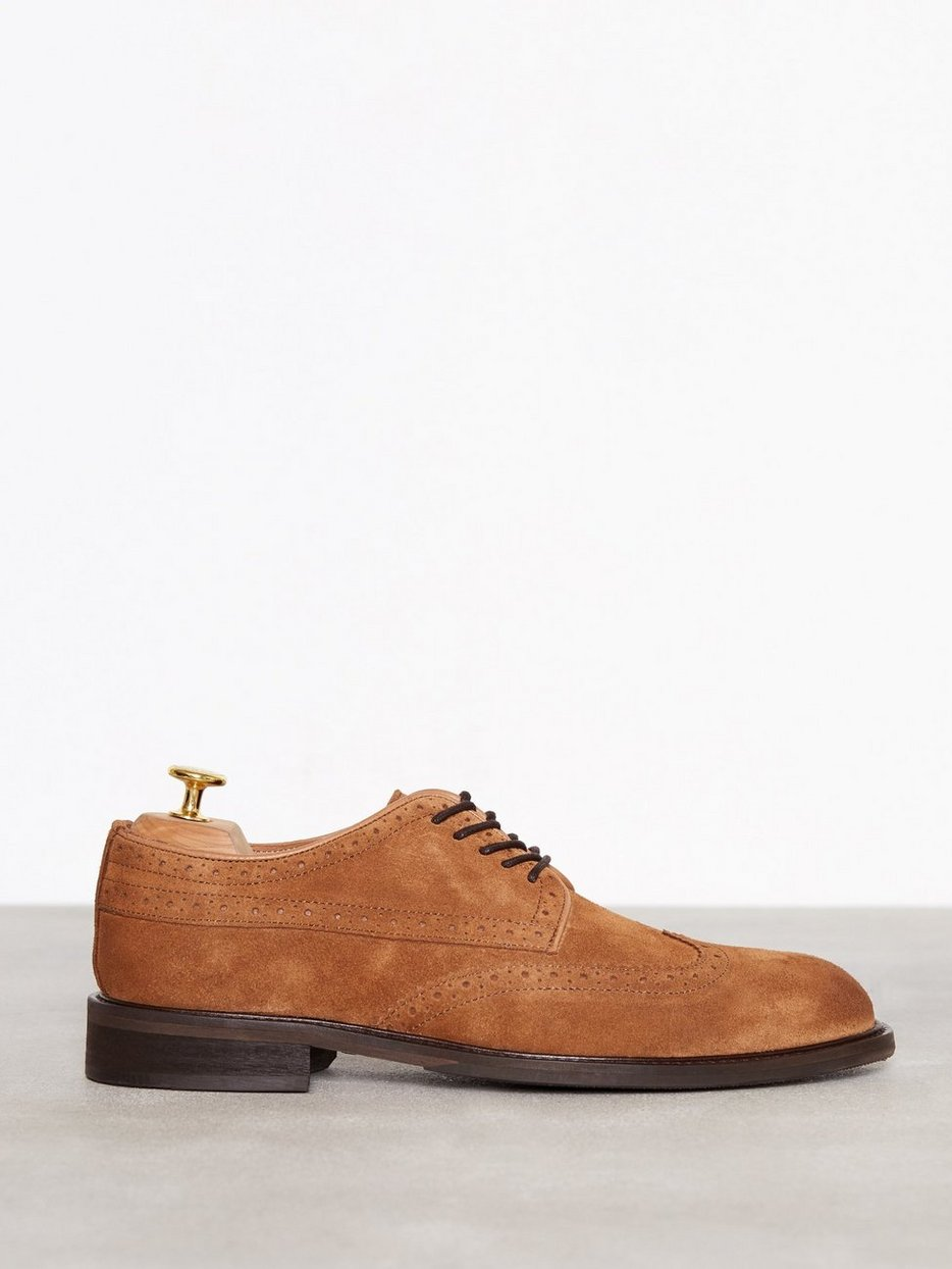 SLHBAXTER BROGUE SUEDE SHOE B