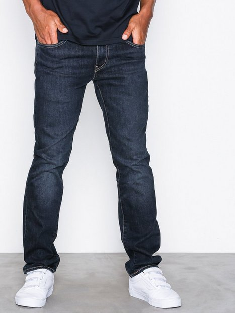 Levis 511 Slim Fit Zebroid Adapt Jeans Denim Blå - herre