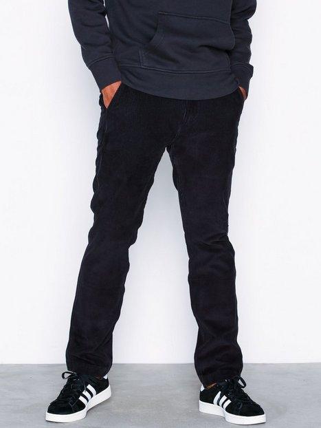 Levis 502 True Chino Black 8W Cordur Bukser Sort mand køb billigt