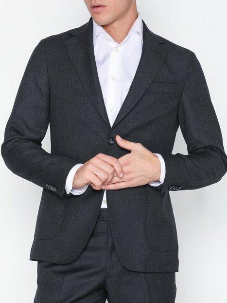 Oscar Jacobson Edgar Blazer Blazere jakkesæt Dark Grey - herre