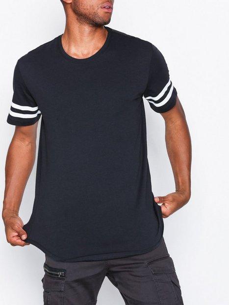 Only Sons onsMATT Longy Stripe Tee New Exp T shirts undertrøjer Mørkeblå - herre
