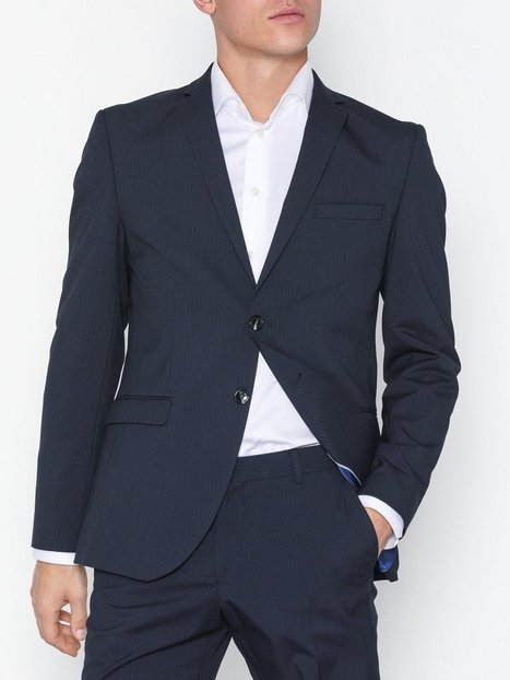 Selected Homme Slhslim Mylologan Navy Stripe Blz B Blazere jakkesæt Mørkeblå - herre