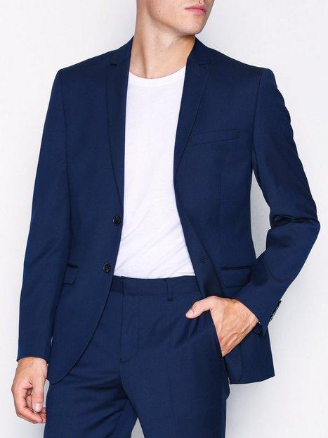 Selected Homme Slhslim Mylobill Blue Blz B Noos Blazere jakkesæt Mørkeblå - herre
