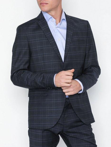 Selected Homme Slhslim Mylocreed Navy Check Blz B Blazere jakkesæt Mørkeblå mand køb billigt