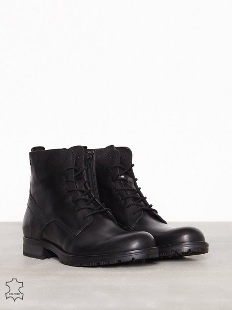 Jack Jones Jfworca Leather Black Støvler Sort - herre